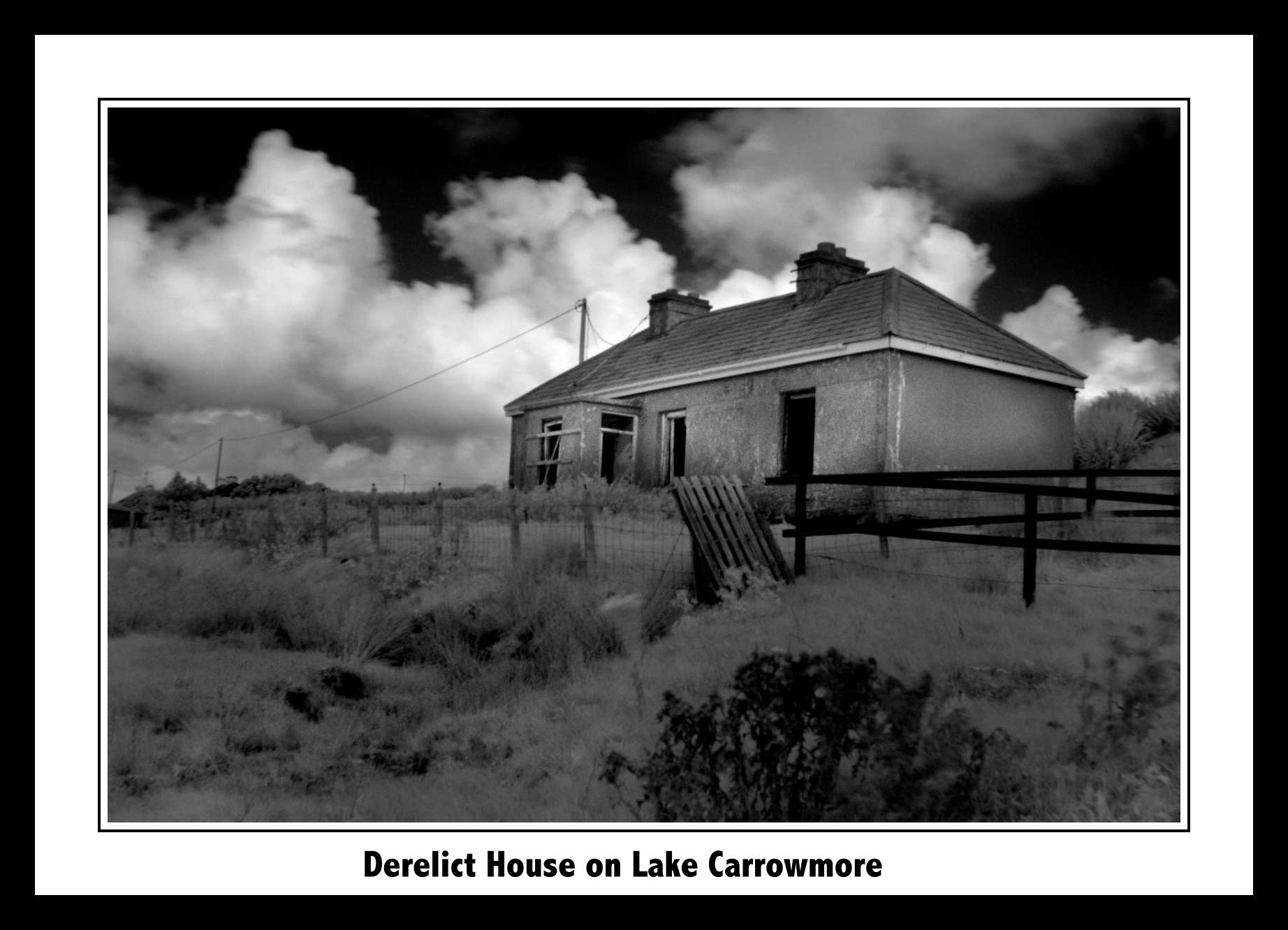 Derelict house on Lake Carrowmore slideshow
