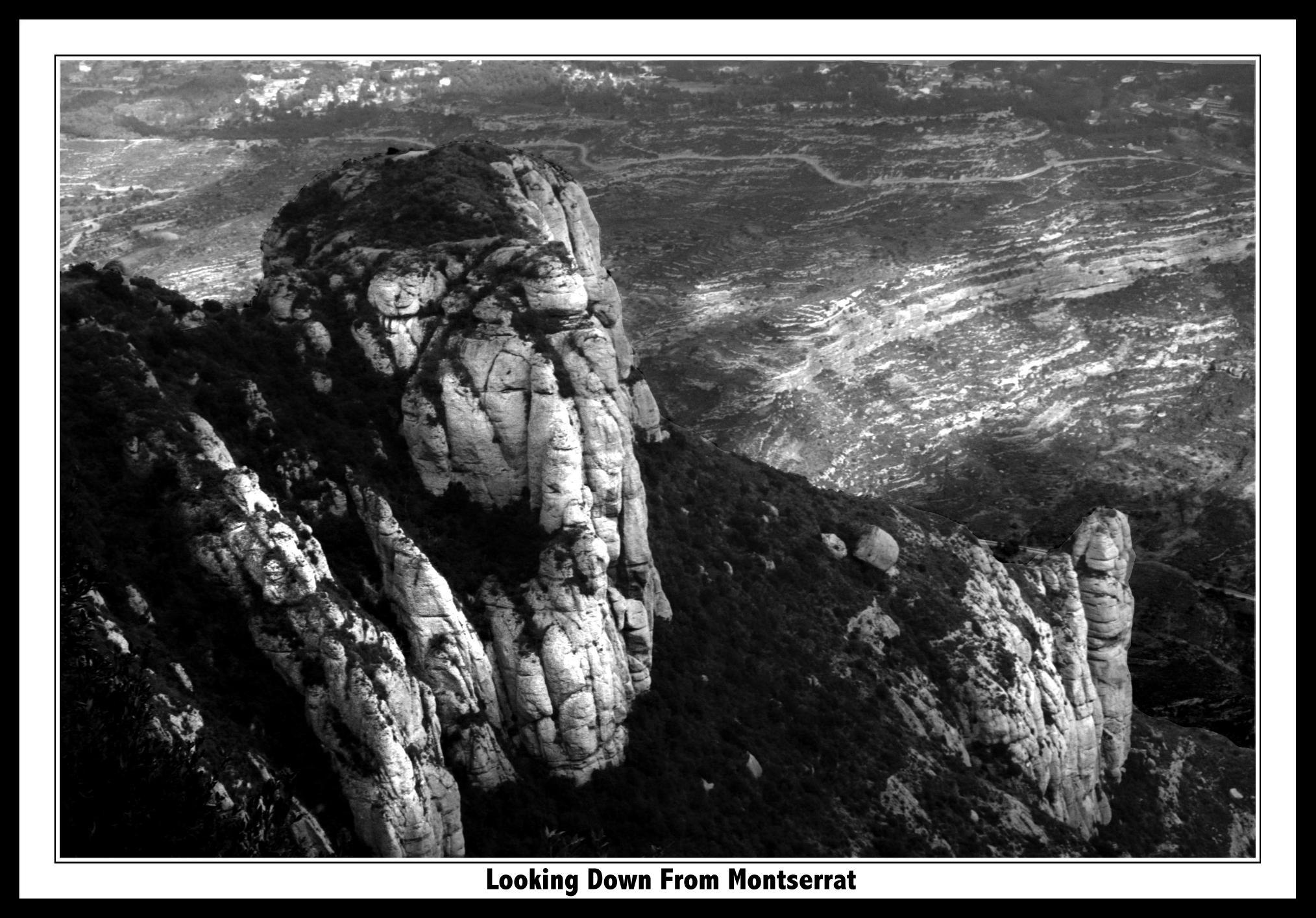 Looking down from Montserrat slideshow